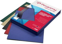 Pergamy omslagen lederlook ft A4, 250 micron, pak van 100 stuks, bordeaux
