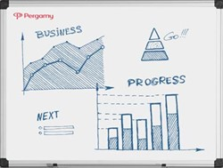 Magnetisch whiteboard Pergamy excellence emaille 180 x 90 cm