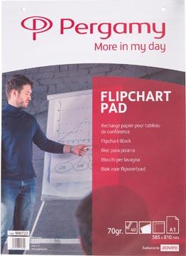 Pergamy flipchartpapier ft A1, blanco, rol met 40 blad