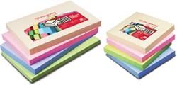 Pergamy notes, ft 76 x 127 mm, 4 geassorteerde pastel kleuren, pak van 12 blokken