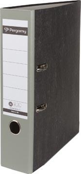 Pergamy ordner,  voor ft A4, uit karton, rug van 8 cm, gewolkt grijs