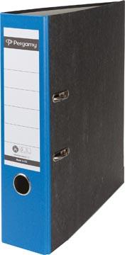 Pergamy ordner,  voor ft A4, uit karton, rug van 8 cm, gewolkt blauw