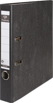 A4 ordner karton gewolkt rug 50mm zwart Pergamy