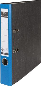 A4 ordner karton gewolkt rug 50mm blauw Pergamy