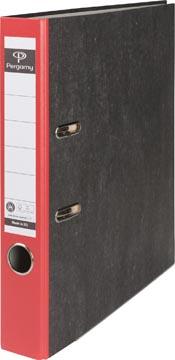 A4 ordner karton gewolkt rug 50mm rood Pergamy