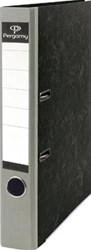 Pergamy ordner,  voor ft A4, uit karton, rug van 5 cm, gewolkt grijs