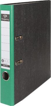 A4 ordner karton gewolkt rug 50mm groen Pergamy
