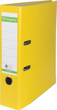 A4 ordner Recycolor papier rug van 8 cm geel Pergamy