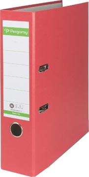 A4 ordner Recycolor papier rug van 8 cm rood Pergamy