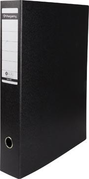 A3 ordner karton staand zwart 80mm rug Pergamy