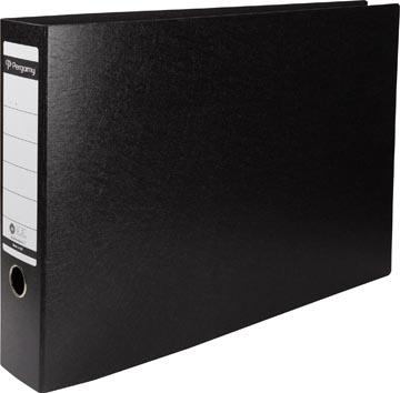 A3 ordner karton liggend zwart 80mm rug Pergamy