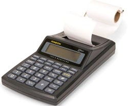 Kineon bureaurekenmachine met telrol P25