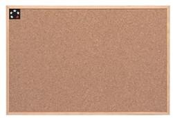 Prikbord kurk met houten kader  60 x 90 cm