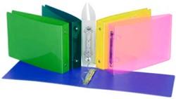 A5 Ringmap liggende Propyglass geassorteerde transparante kleuren