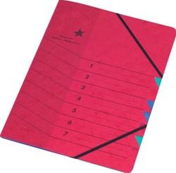 5star sorteermap karton 7 vakken rood