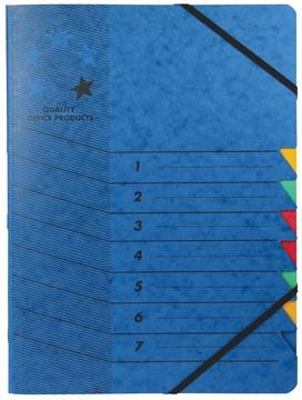 5star sorteermap karton 7 vakken blauw