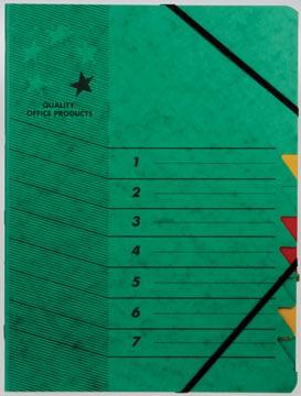 5star sorteermap karton 7 vakken groen