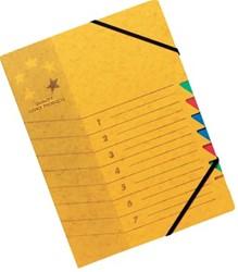 5star sorteermap karton 7 vakken geel