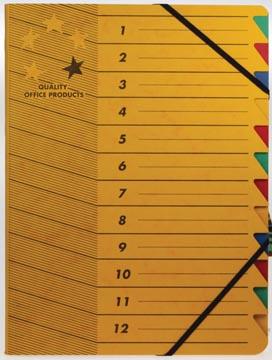 5star sorteermap karton 12 vakken geel
