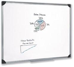 Magnetisch whiteboard 45x60 cm gelakt staal