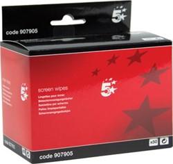 5 Star anti-statische schermreinigingsdoekjes, pak van 50 doekjes