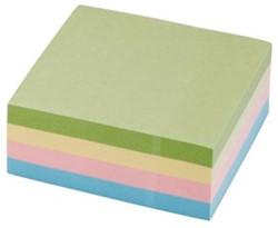 5Star  Re-Move  Note Cube pastelkleuren: geel, roze, groen en blauw