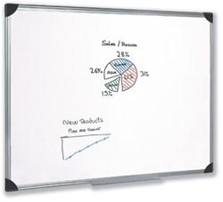 Magnetisch whiteboard 100x150 cm gelakt staal