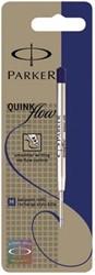 Parker Vullingen voor balpen Quinkflow medium punt 1 mm, blauw (op blister)