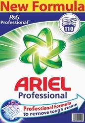 Ariel waspoeder Actilift, voor witte en licht gekleurde was, pak van 110 wasbeurten