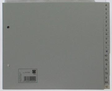 Abc tabbladen A5 met 2-gaatsperforatie in grijs