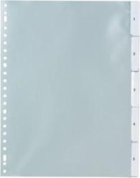 Tabbladen A4 met transparante tabs en verwisselbare etiketten