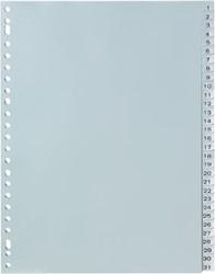 Tabbladen A4 met 1-31 genummerd tabs