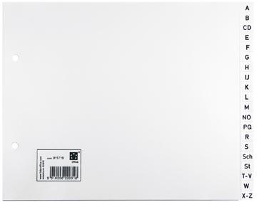 Tabbladen abc A5 liggend formaat in wit met 20 tabs