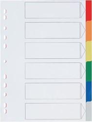 Plastic tabbladen A4 met 6 geplastificeerde tabs