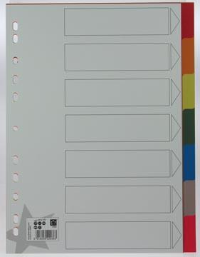 Kunststof tabbladen A4 met 7 tabs in geassorteerde kleuren