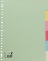 Tabbladen karton A4 met 6 tabs in geassorteerde kleuren
