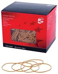 5 Star elastieken 1,5 mm x 80 mm, doos van 500 g