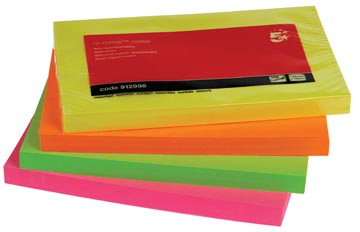 5Star  Neon Re-Move  Notes ft 76 x 127 mm