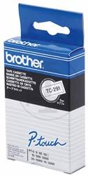 Brother tape TC291 9mm zwart op wit