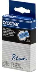 Brother tape TC591 9mm zwart op blauw