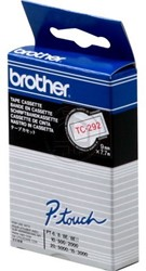 Brother tape TC292 9mm rood op wit