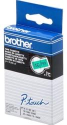 Brother tape TC791 9mm zwart op groen