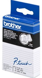 TC195 Brother zwart op transparante tape 9mm