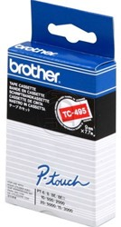 Brother tape TC495 9mm wit op rood