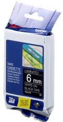 Brother tape TZE315 6mm wit op zwart