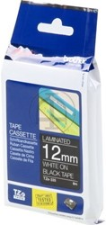 Brother tape TZE335 12mm wit op zwart