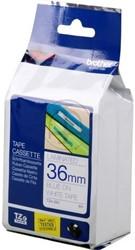 Brother tape TZE263 36mm blauw op wit