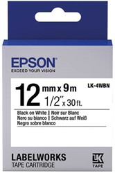 C53S654021 EPSON 12mm BLACK-WHITES LW900P tape 9m