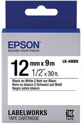 C53S654021 EPSON 12mm SCHWARZ-WEISS LW900P Schriftband 9m