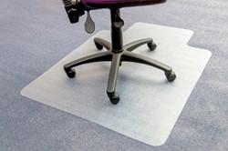 Vloerbeschermer 90x120cm voor harde vloeren met uitsparing 51x25cm